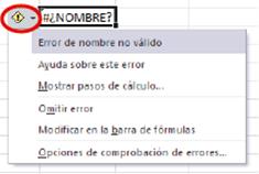 6.10.1. Comprobar errores en fórmulas - Guía Rápida Excel 2010